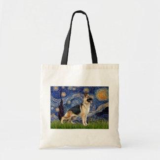 Starry Night - German Shepherd 13 Canvas Bags