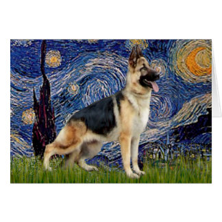 Starry Night - German Shepherd 13 Cards