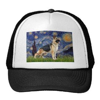 Starry Night - German Shepherd 13 Trucker Hat