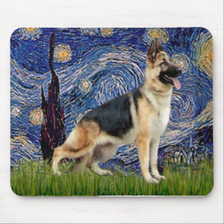 Starry Night - German Shepherd 13 Mouse Pad