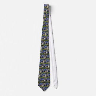 Starry Night - German Shepherd 13 Neck Tie