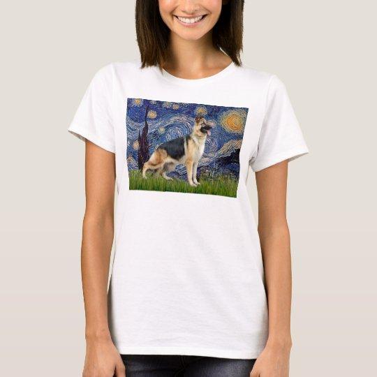 Starry Night - German Shepherd 13 T-Shirt