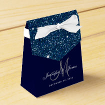 Starry Night Glitter Elegant Wedding Favor Box