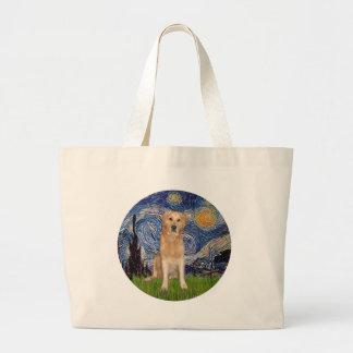 Starry Night - Golden Retriever (K) Tote Bags