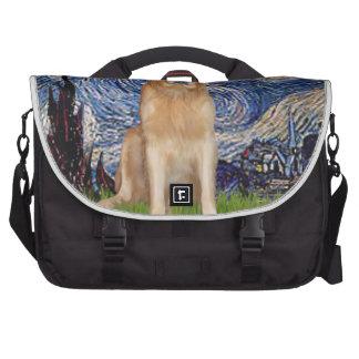 Starry Night - Golden Retriever (K) Commuter Bag