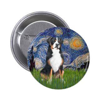 Starry Night-Greater Swiss Mountain Dog Pinback Buttons
