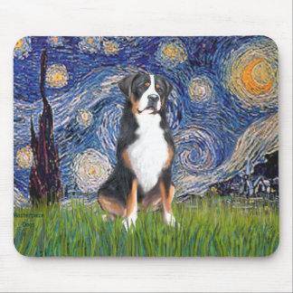 Starry Night-Greater Swiss Mountain Dog Mouse Pad
