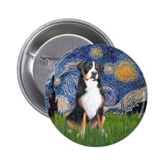 Starry Night-Greater Swiss Mountain Dog Pinback Button