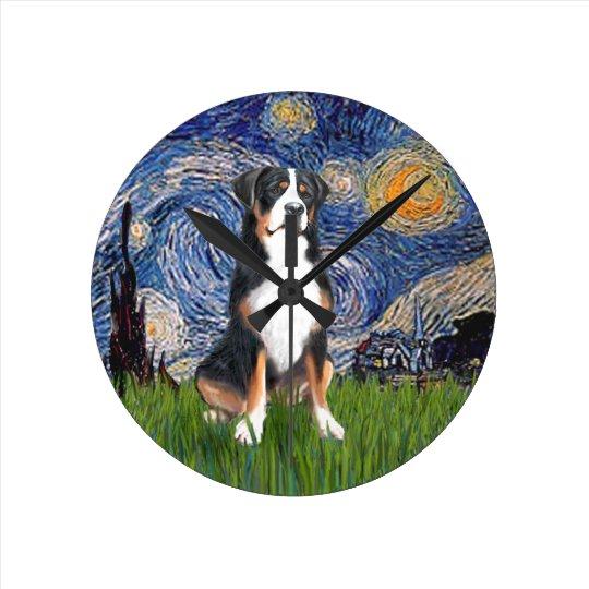Greater Swiss Mountain Dog Round Clock
