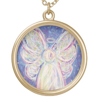 Starry Night Guardian Angel Customize Art Necklace