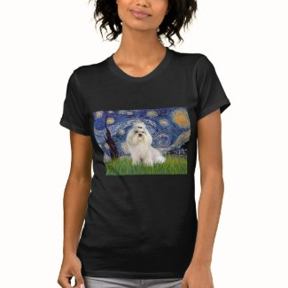 Starry Night - Havanese (white/cream) T-shirts