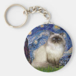 Starry Night - Himalayan cat 7 Keychains