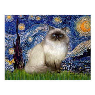 Starry Night - Himalayan cat 7 Post Cards