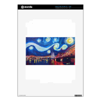 Starry night in Cologne Germany Decals For The iPad 2