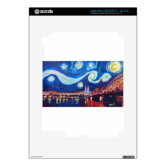 Starry night in Cologne Germany iPad 3 Decals
