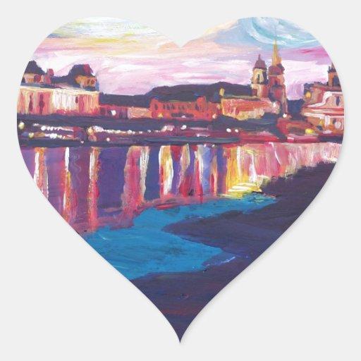 Starry Night in Dresden Heart Sticker | Zazzle
