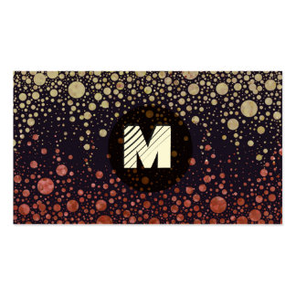 Starry Night in Gold and Red Business Card Templates