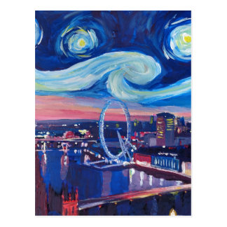 Starry night in London Postcard