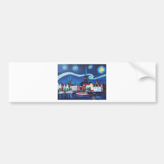 Starry Night in Luebeck Germany Bumper Sticker