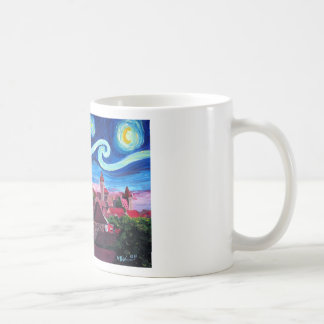 Starry Night in Nuremberg Germany with Castle Coffee Mug