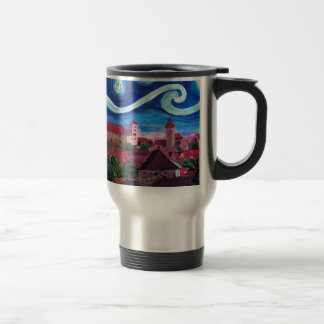Starry Night in Nuremberg Germany with Castle Travel Mug
