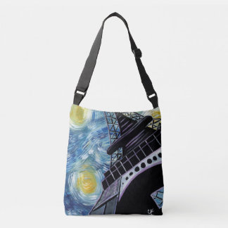 Starry Night in Paris Crossbody Bag