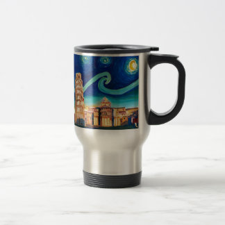 Starry Night in Pisa with Leaning Tower Travel Mug