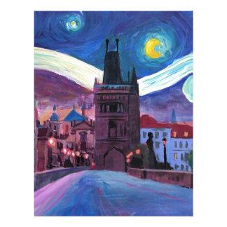 Starry Night in Prague  with Carlsbridge Letterhead