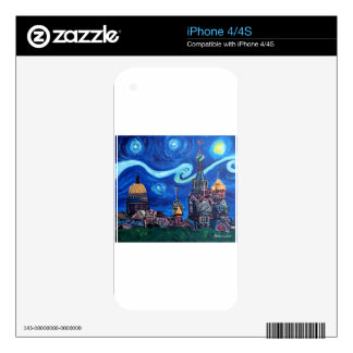 Starry Night in St Petersburg Russia Skins For iPhone 4