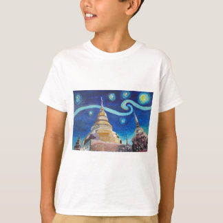 Starry Night in Thailand - Van Gogh Inspirations T-Shirt