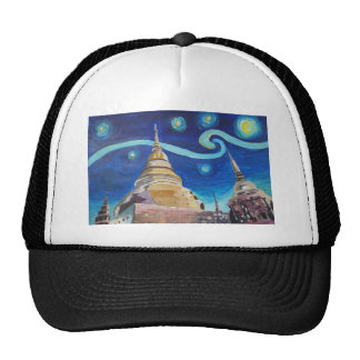 Starry Night in Thailand - Van Gogh Inspirations Trucker Hat