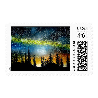 Starry Night in the High Sierra Postage Stamp