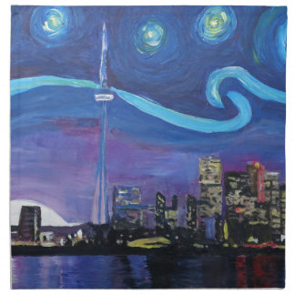 Starry Night in Toronto with Van Gogh Inspirations Napkin