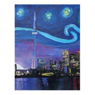 Starry Night in Toronto with Van Gogh Inspirations Postcard