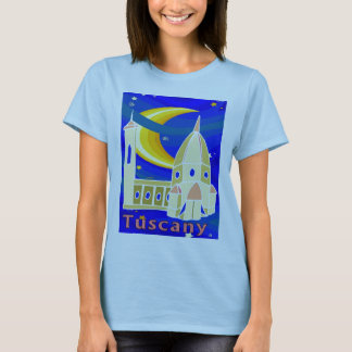Starry Night In Tuscany T-Shirt