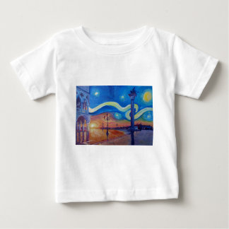 Starry Night in Venice Italy - San Marco with Lion Baby T-Shirt