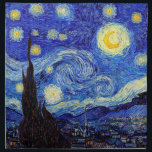 "Starry Night  Inspired Van Gogh Classic Products Napkin<br><div class=""desc"">Starry Night  Inspired Van Gogh Classic Products Moon Stars Painting Napkins</div>"