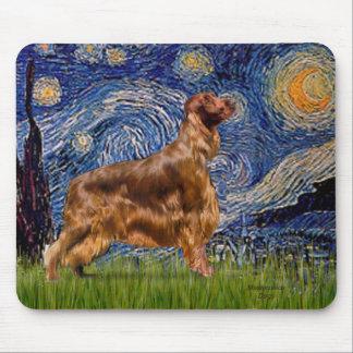 Starry Night - Irish Setter 3 Mouse Pad