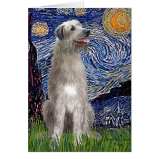 Starry Night - Irish Wolfhound Greeting Card