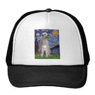 Starry Night - Irish Wolfhound Trucker Hat