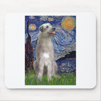 Starry Night - Irish Wolfhound Mouse Pad