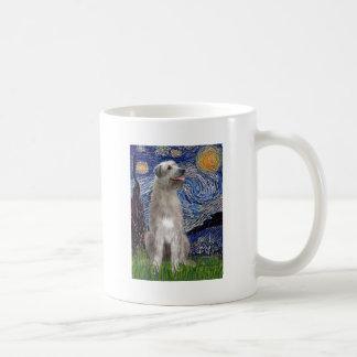 Starry Night - Irish Wolfhound Classic White Coffee Mug