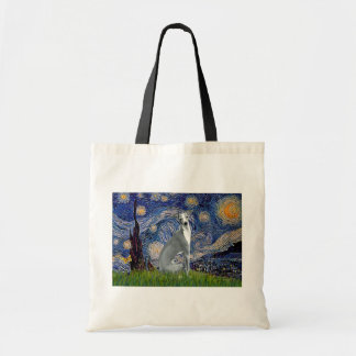 Starry Night-Italian Greyhound 4 (sit) Tote Bag