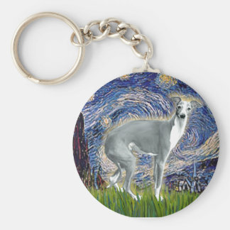 Starry Night - Italian Greyhound 4darkgreystand Keychain