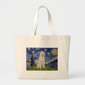 Starry Night - Italian Spinone #12 Large Tote Bag