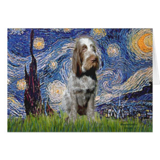 Starry Night - Italian Spinone (roan) Cards