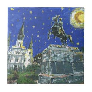 Starry Night Jackson Square Ceramic Tile