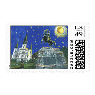 Starry Night Jackson Square Postage