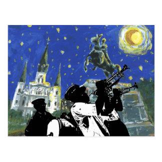Starry Night Jackson Square Postcard
