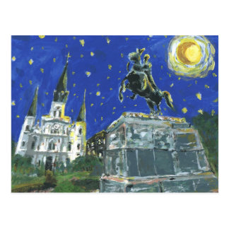Starry Night Jackson Square Postcard